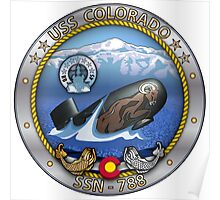 SSN-788 USS Colorado Crest Poster