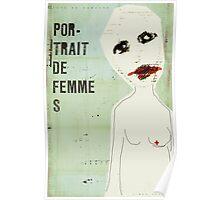 portrait de femme Poster