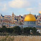 Jerusalem's Old City View by Marius Brecher