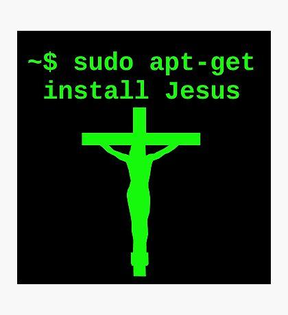 Linux sudo apt-get install Jesus Photographic Print