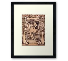 Griffin Bench Scene  Framed Print