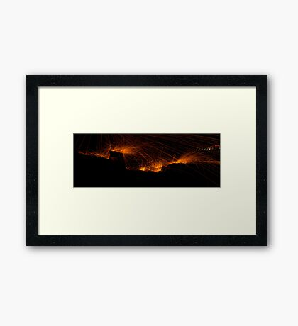 raining fire Framed Print