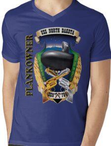 SSN-784 USS North Dakota Plank Owner Crest Mens V-Neck T-Shirt
