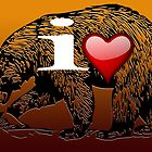 I LOVE BEAR by peter chebatte