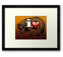 I LOVE BEAR Framed Print