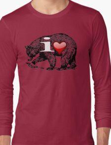 I LOVE BEAR Long Sleeve T-Shirt