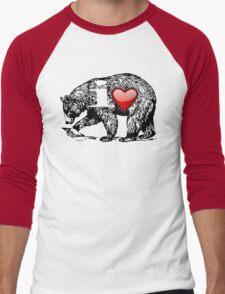 I LOVE BEAR Men's Baseball ¾ T-Shirt