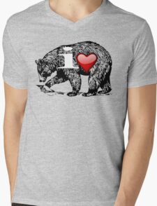 I LOVE BEAR Mens V-Neck T-Shirt