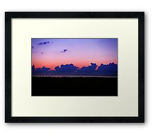 Sunset Yet Again. Framed Print
