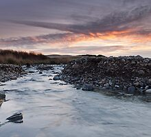 Flaming Cross over Kilve Pill by kernuak