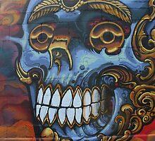Graffiti Blue Skull by Mythos57
