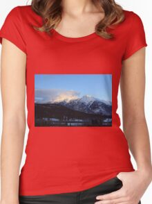 Snow Covered Mountains Women's Fitted Scoop T-Shirt