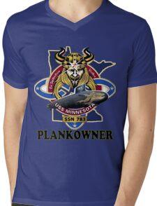 SSN-783 USS Minnesota Plank Owner Crest Mens V-Neck T-Shirt
