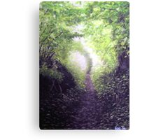 Spring walk in the country. Canvas Print