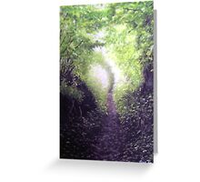 Spring walk in the country. Greeting Card
