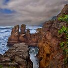 Pancake Rocks, Punakaiki, NZ by Kris Montgomery