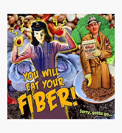 Pulp Fiction: You Will Eat Your Fiber! Photographic Print
