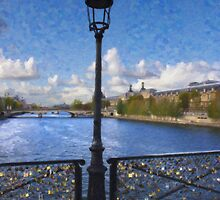 Pont des Arts Bridge  by Tom  Reynen