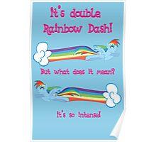 Double Rainbow Dash Poster