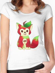 FRUIT CATS: Macintosh Apple Cat Women's Fitted Scoop T-Shirt