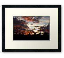 Tropical Twilight - Orange Belly Blanketed Cloudscape  Framed Print