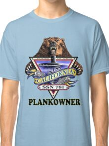 SSN-781 USS California Plank Owner Crest Classic T-Shirt
