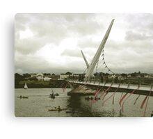 Derry Peace Bridge -  Derry Ireland Canvas Print