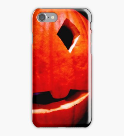 Halloween jack-o-lantern pumpkins iPhone Case/Skin