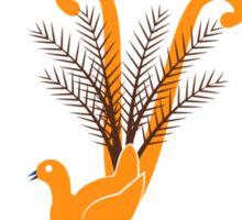 Folk Lyrebird Sticker