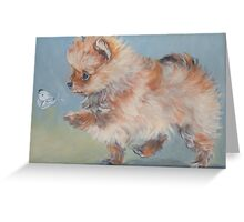 Pomeranian Fine Art Painting Greeting Card
