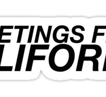 Greetings From California Sticker