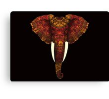Ornately Patterned African Elephant Canvas Print