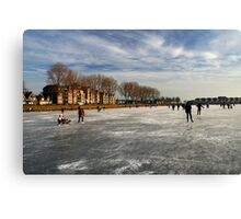 Ice Fun in Hoorn Canvas Print
