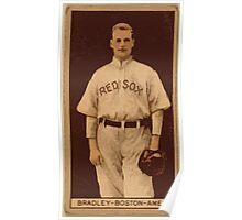 Benjamin K Edwards Collection Hugh Bradley Boston Red Sox baseball card portrait Poster