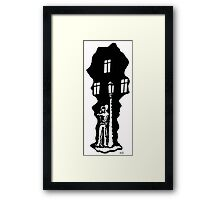 Date black and white pen ink drawing Framed Print