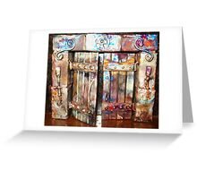 The Open Templar Doors Greeting Card
