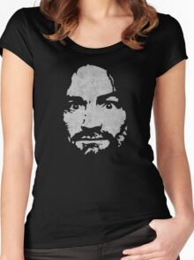 Charles Manson Women's Fitted Scoop T-Shirt
