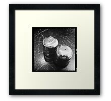 The ongoing debate between Salt and Pepper gets personal Framed Print