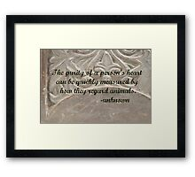 Purity of a Person's Heart Framed Print