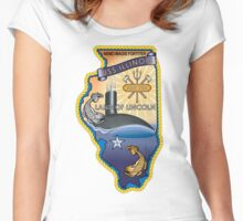 SSN-786 USS Illinois Crest Women's Fitted Scoop T-Shirt