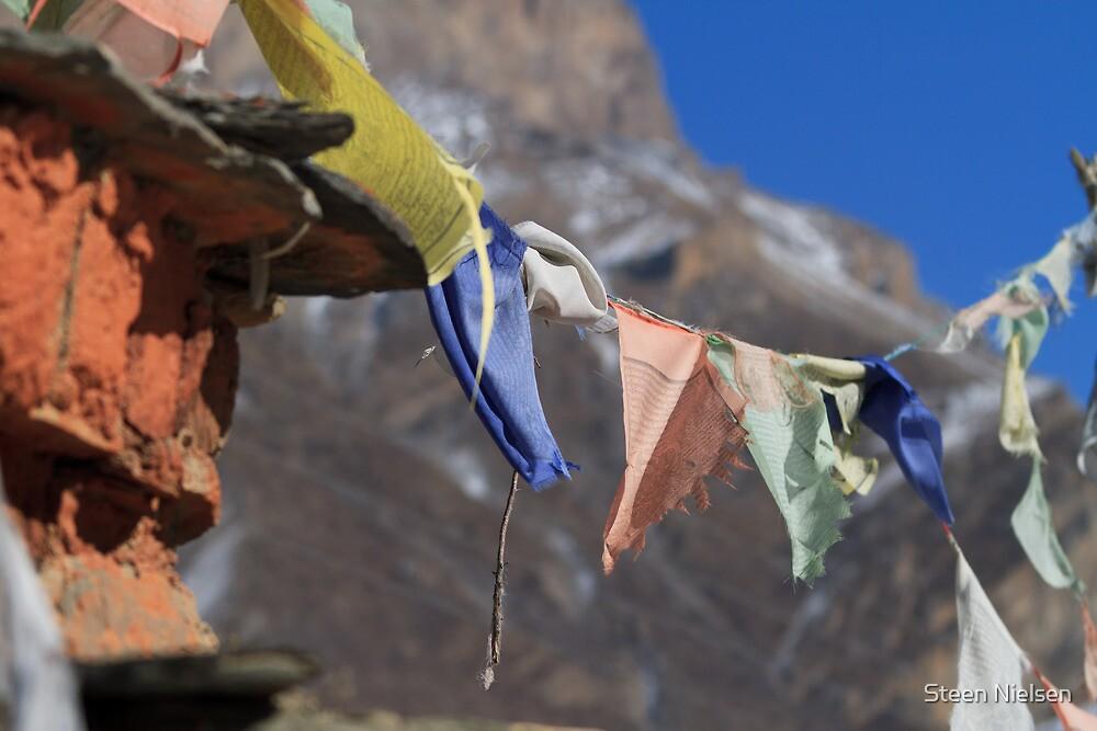 Prayer flags.... by Steen Nielsen