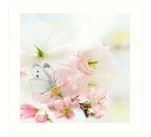 The Silent World of a Butterfly Art Print