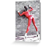 Red Catsuit Girl Greeting Card