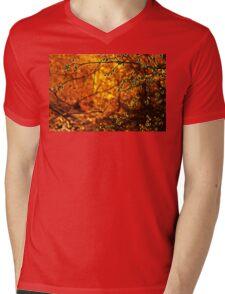 Backlit Branch II Mens V-Neck T-Shirt
