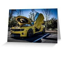 Transformers BumbleBee Greeting Card