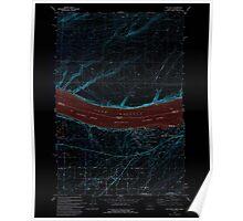 USGS Topo Map Oregon OR Hat Rock 280169 1993 24000 Inverted Poster