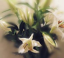 Bouquet of Lillies by Ann Persse