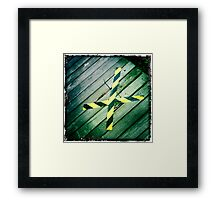 """X"" marks the spot Framed Print"