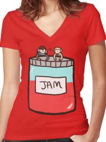 Sherlock, John, and Jam Women's Fitted V-Neck T-Shirt
