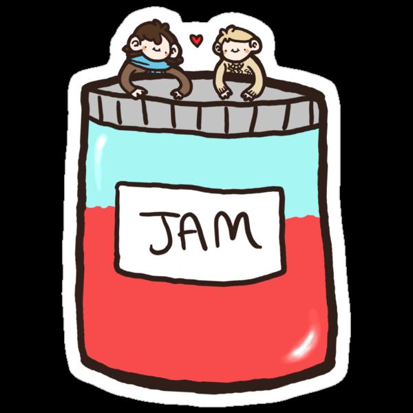 Sherlock, John, and Jam by geothebio